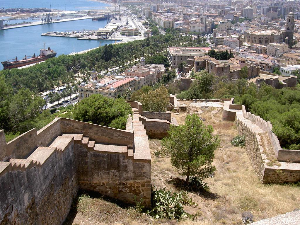 Gibralfaro Kasteel in Malaga