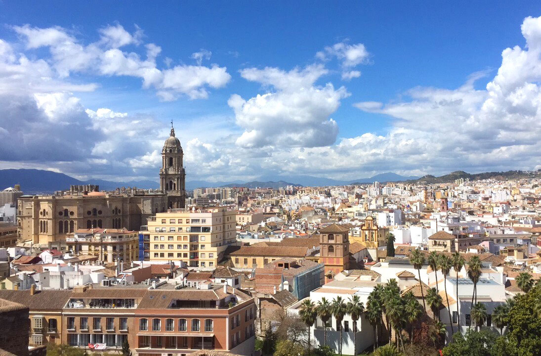 Uitzicht over Malaga stad vanaf Alcazaba