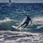 Kitesurfer in Tarifa Costa de la Luz