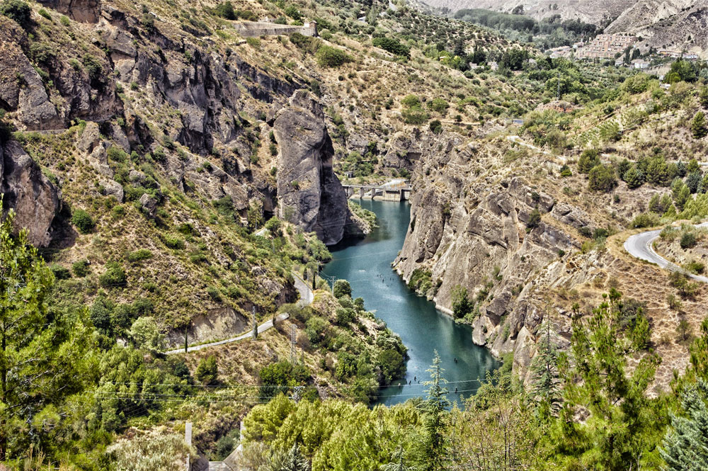 Berggebied Sierra Nevada in Spanje