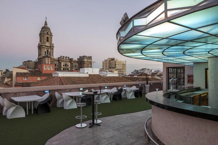 Room Mate Larios Hotel rooftop dakterras in Malaga