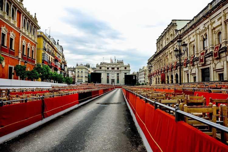 Semana Santa tribunes in Sevilla