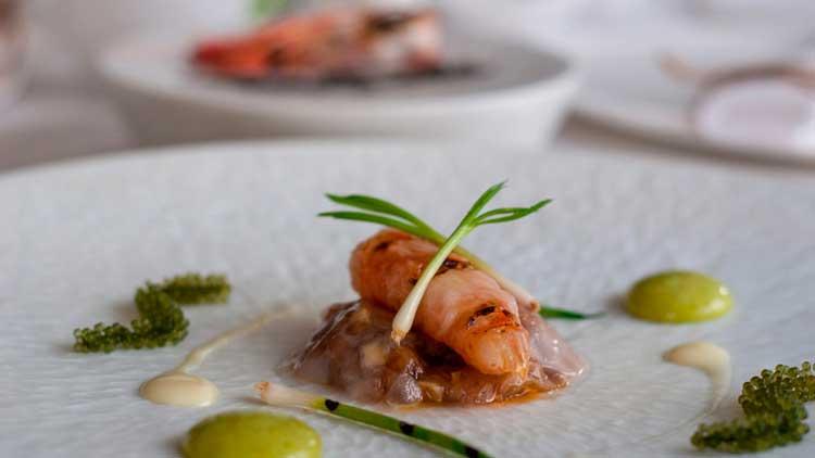 Prachtig opgemaakt eten in Marbella