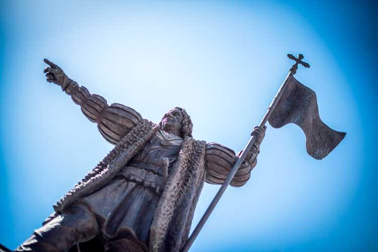 Beeld Columbus in Huelva